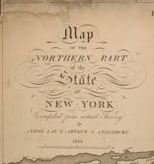 Map Of State Of New York by Map Of The Northern Part Of The State Of New York Compiled From