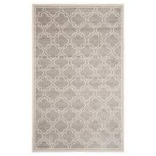 Suzanne Kasler Quatrefoil Border Indoor Outdoor Rug Suzanne Kasler Quatrefoil Border Indoor Outdoor Rug In Gray From