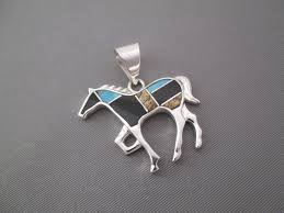 turquoise stone wallpaper multi stone inlay horse pendant with turquoise navajo jewelry
