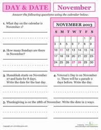 november 2017 day and date worksheets november and school