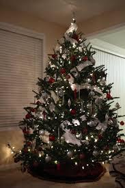 christmas tree ribbon decoration ideas ne wall