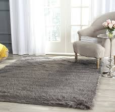 how big should my area rug be amazon com safavieh faux silky sheepskin fss235a ivory area shag