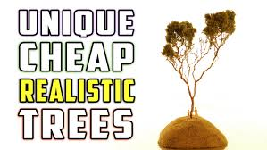 realistic cheap and easy trees for your model railroad how to