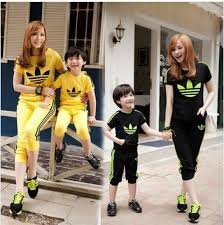 4pcs family matching clothes mother daughter dress father