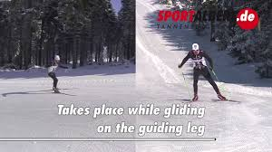 cross country skiing technique skating 1 2 with guiding arm youtube
