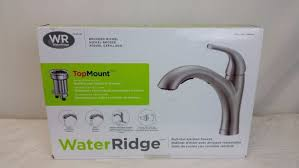 wr kitchen faucet chrome water ridge pull out kitchen faucet wide spread two handle