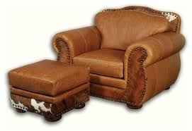 southwestern chairs and ottomans fabulous western leather chair with hair on hide southwestern