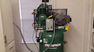 champion air compressor installation u0026 review youtube