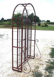metal garden arbor with gate home outdoor decoration