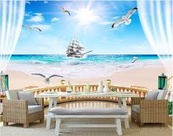 compare prices on sea wall murals online shopping buy low price custom mural 3d wallpaper balcony sea sailing photo wall paper room decor painting 3d wall murals