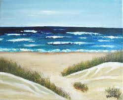 sand dunes on the beach painting by vesna antic