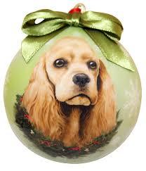 cocker spaniel ornament shatter proof