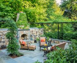 dc metro outdoor fireplace pizza patio traditional with paver
