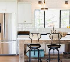 wood and brass counter stools design ideas