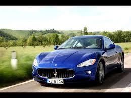 maserati granturismo blue 2009 maserati gran turismo s automatic blue front angle speed