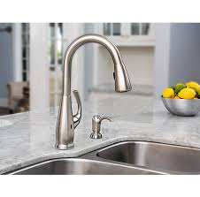 touch on kitchen faucet stainless steel selia touch free pull kitchen faucet with