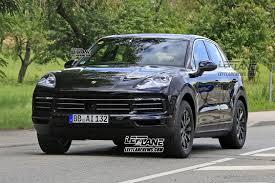 Porsche Cayenne Msrp - spied 2018 porsche cayenne sheds most of its camo leftlanenews