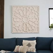 large wood wall hanging whitewashed wood wall west elm