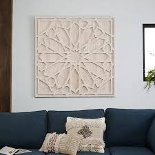 large wood wall decor whitewashed wood wall west elm