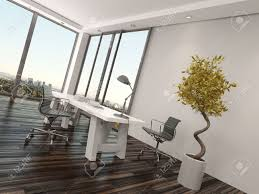 Home Office Interior Design Modern Home Office Interior Design With Two Office Chairs On