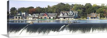 Boat House Row - boathouse row at the waterfront schuylkill river philadelphia
