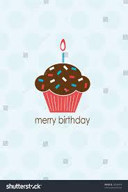Merry Birthday Card Merry Birthday Card Cupcake Stock Illustration 28766449 Shutterstock