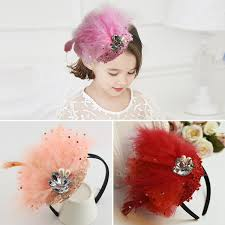 children s hair accessories headbands for babies feather headband accessories elastic