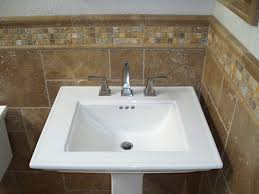 travertine tile ideas bathrooms autumn leaves 2x2 travertine mosaic tiles and noce tumbled