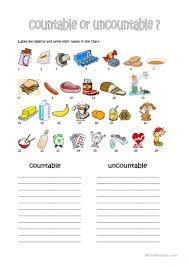 Countable And Uncountable Nouns Explanation Pdf 72 Free Esl Quantifiers Worksheets