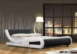 White Leather Bed Frame King Italian Design Mallorca King Size Black White Pu Leather Bed