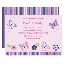 butterfly birthday invitations u0026 announcements zazzle