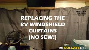 no sew upgrading rv windshield curtains rv tailgate life