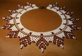 necklace beaded pattern images Free pattern for beaded necklace sandal beads magic jpg