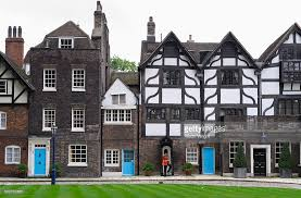 tower of london last of the english tudor houses stock photo