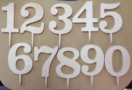 number cake topper 4 inch classic wooden number cake topper 1 4 inch