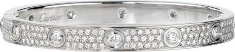 cartier diamond bracelet love images Crn6033602 love bracelet diamond paved white gold diamonds png