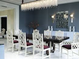 gorgeous and dramatic contemporary dining room rain shaped crystal