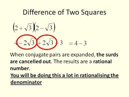 simplify this which is the answer a d b e c rationalising surds