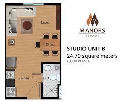 camella homes manors bacoor studio 24 70 sqm condominium for