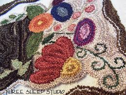 Punch Needle Rug Hooking Three Sheep Studio Warm Rich Punch Needle Colors