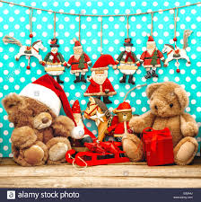 teddy decorations christmas decorations with vintage toys and teddy nostalgic