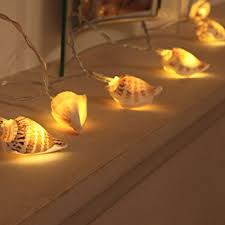 sea shell lights battery operated 10 warm white leds