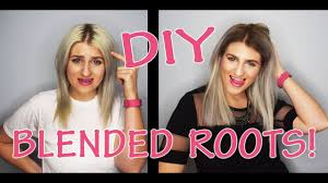 how to blend in gray roots of black hair with highlig diy blend your dark roots youtube