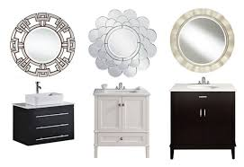 bathroom awesome round mirror bathroom cabinet decorations ideas