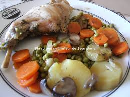 cuisiner les l馮umes sans mati鑽e grasse cuisses de lapin légumes recette légère la cuisine en