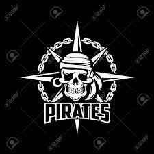 Black American Flag Bandana Black Pirates Flag Of Vector Sailor Or Captain Skeleton Skull