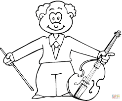 musician with viola coloring page free printable coloring pages
