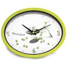 pendule cuisine horloge cuisine ludik verte