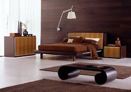 simple photo of ultra modern bedroom design with natural wooden