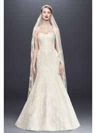 strapless wedding dresses oleg cassini satin lace strapless wedding dress david s bridal
